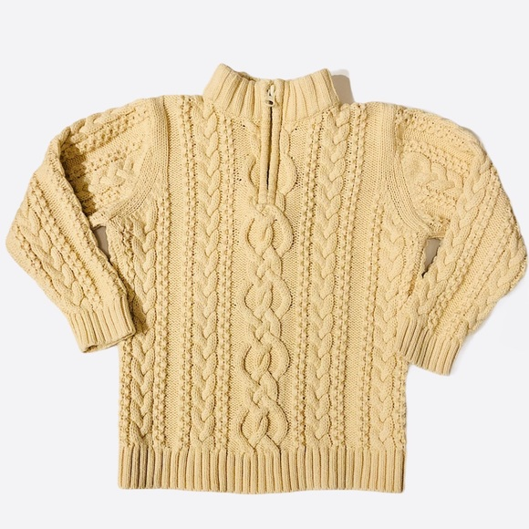Hanna Andersson 100(4) cable knit 1/4 zip sweater